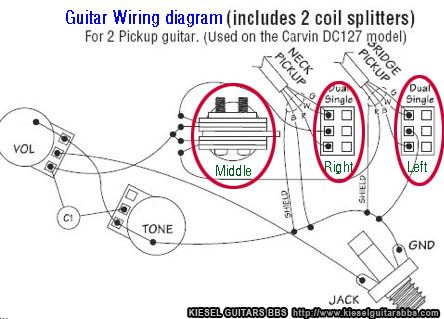 combining dc127 wiring on a rotary switch HSS Pickup Wiring Diagram HSS Pickup Wiring Diagram