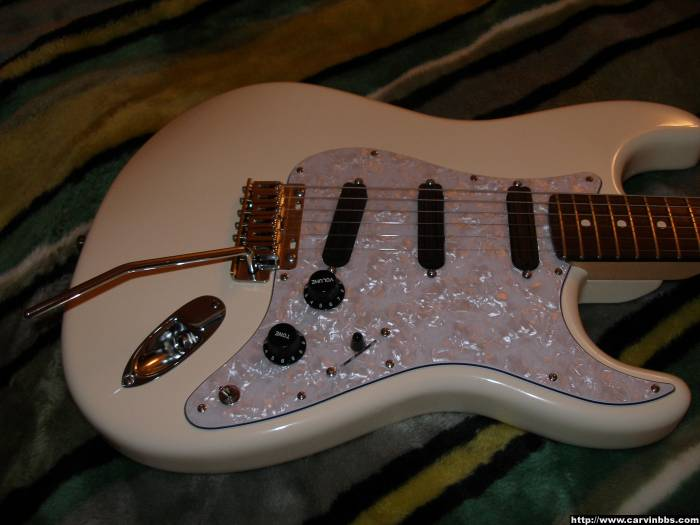 will a carvin pre wired pickguard fit on a modern fender. Black Bedroom Furniture Sets. Home Design Ideas