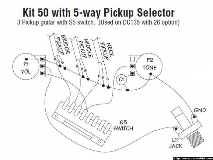 wiring questions - 2 humb 5 way switch